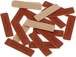 Harilla 20 etiquetas feitas à mão retrô de couro de poliuretano, etiquetas de etiquetas, botões para