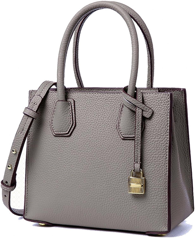 2018 new style leather bag lock bag handbag shoulder messenger bag