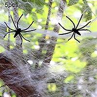 HHM 林5 PCSハロウィン小道具綿糸Spの巣、ランダムな色の配信