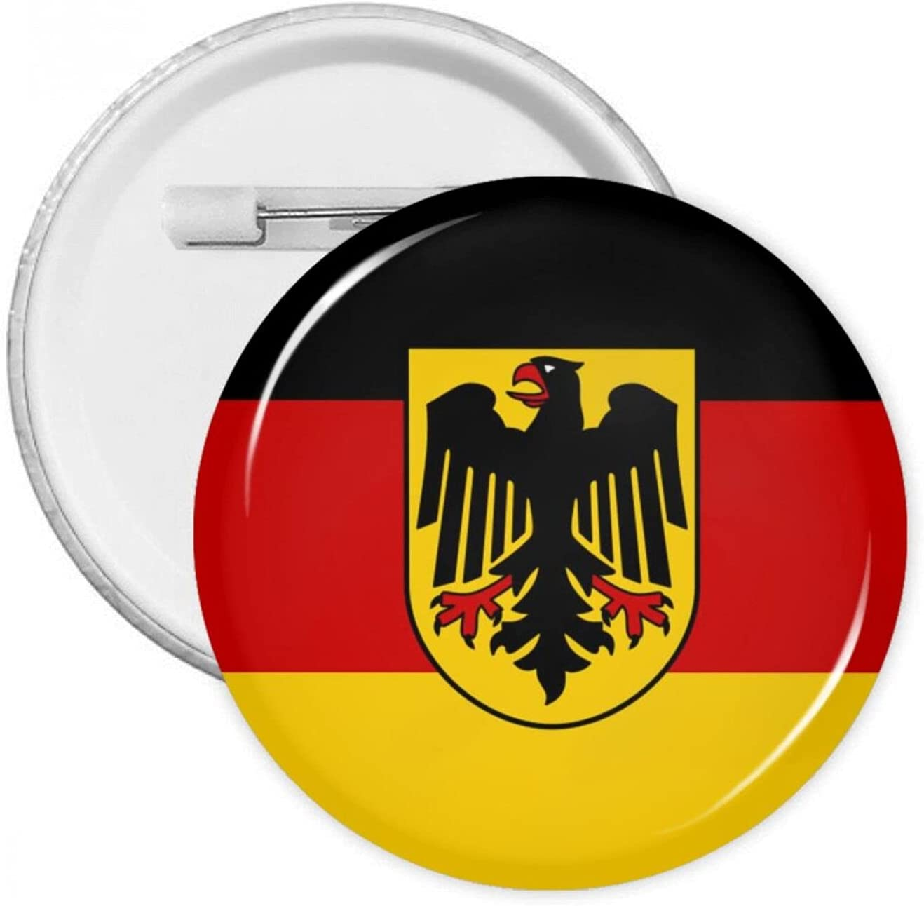 Deutschland Flag 1.2/1.8/2.3 Inch Round Pins Brooches Button Medal Tinplate Pins Emblem Adult Children Pin Badges Decor for Backpacks Costume