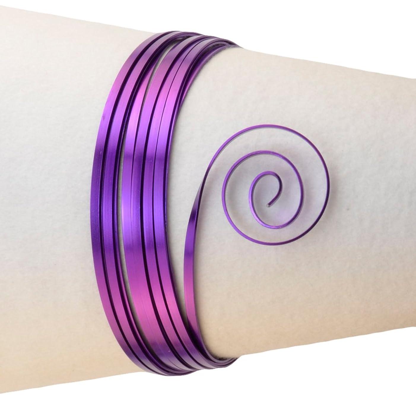 Vaessen Creative Aluminium Flat Wire 3,5x1mm 5m Lilac,
