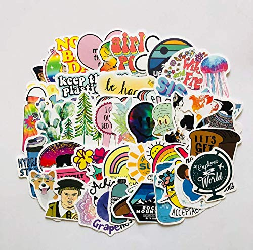 ZXXC Small Fresh And Non-Repetitive Waterproof Car Stickers Removable Amazon Ebay Graffiti Stickers 50 Sheets