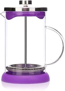 Cafetera 400ml Filtro transparente de vidrio Cafetera Tetera Tetera Mano Goteo Vierta Cafetera con escala y mango de engrosamiento para Office Home Cafe