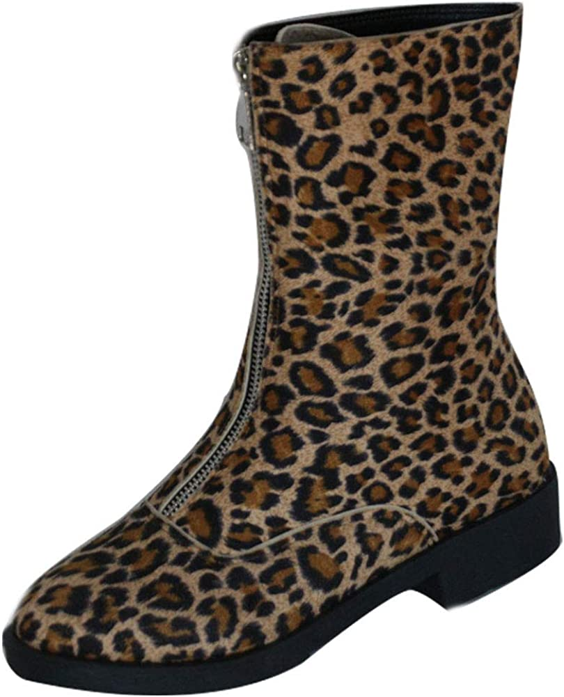 Vimisaoi Cheap Women's Suede Mid Calf Boots Round Low Heel Chunky Finally resale start Toe