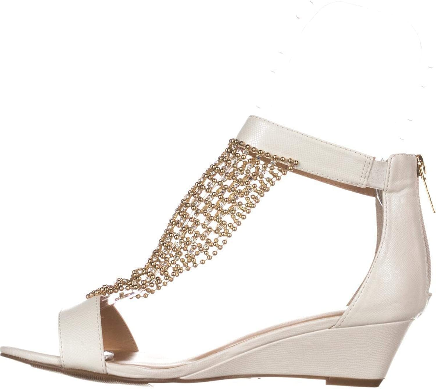 Thalia Sodi Womens Tibby Open Toe Casual Ankle Strap Sandals, White, Size 9.0