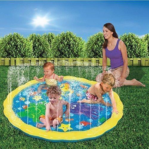 Inflatable Kleinkind Garten Sprinkle N PLATSCH SPIELMATTE Ring SPRITZWASSER Pool Spielzeug