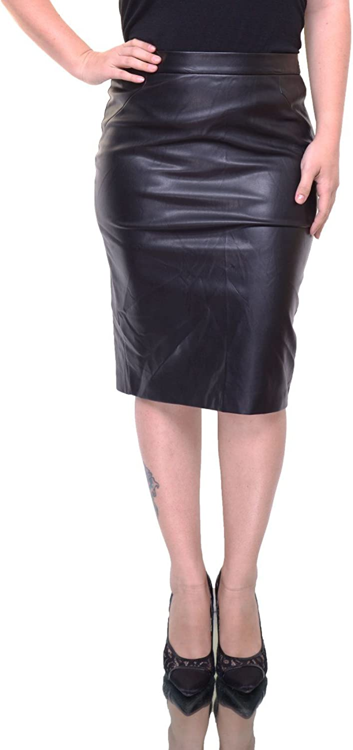 Bar Iii Womens Faux Leather Pencil Skirt