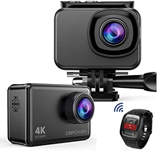 DBPOWER EX7000 Sports Action Camera 4K, 14MP Touchscreen Waterproof Camera 170 Degree Wide Angle 2.4G Remote Control and Accessories Kit 141[並行輸入]