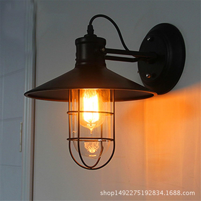 punto de venta barato Lámpara de parojo personalidad retro lámpara Lámpara de parojo de de de hierro en forma de jaula, restaurante bar eólica industrial rodapie lámpara de parojo  conveniente