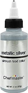U.S. Cake Supply 2-ounce Airbrush Cake Food Color Silver Metallic