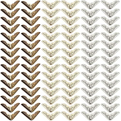 90pcs Esquina De Metal De Latón Esquinas De Álbum Para Libros Esquina De Protección Vintage Decoración De Esquina De Latón Protector Borde Esquina Esquina Metal Antiguo Esquina Del Libro Recuerdos