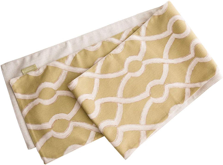 Xiao Mi Guo Ji- Table Flag Modern Minimalist Fresh Yellow Coffee Table Home Fabric Table Cloth Home Fabric Decoration Table Flag (Size   30x240cm)