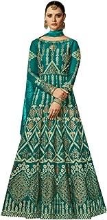 Green Silk Pakistani Bridal Wedding Long Anarkali Salwar Kameez Heavy Dupatta Suit Abaya Muslim Festive Dress 747