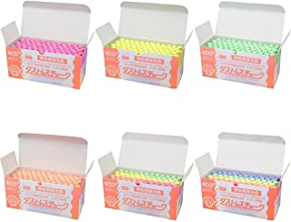 日本理化学 ダストレス学校用 蛍光チョーク 72本入 ■6種類の内「6色・DCK-72-6C」を1点のみです