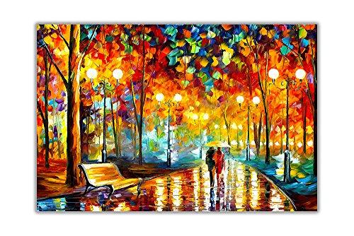"""AT54378D Kunstdruck """"Rains Rustle"""" von Leonid Afremov, abstraktes Poster, Wandkunst, Hausdekoration, Ölgemälde, Nachdruck, Größe A0 (84,1 x 118,9 cm)"""