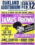 CLASSIC POSTERS James Brown Oakland Foto-Nachdruck eines