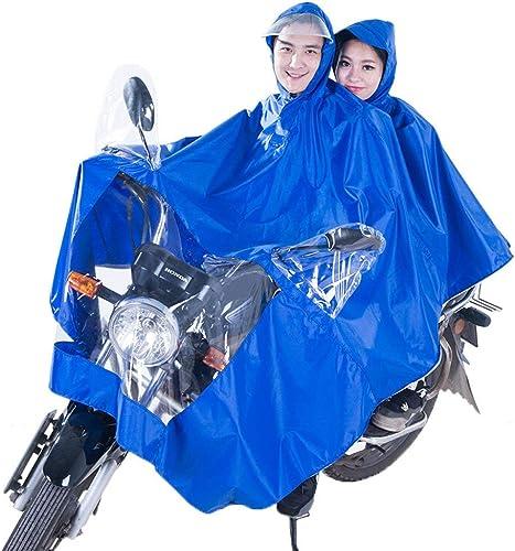 XIAOL Home Imperméable Poncho Hommes et Femmes en Plein air équitation Batterie électrique Moto Double Poncho (Taille   XXXXL)