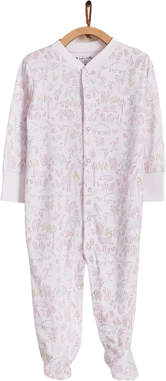 BABYCOTTONS - Safari Footed Pajama Credence COTTON Girl San Francisco Mall PIMA 100%