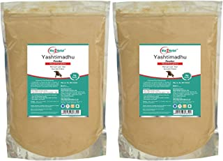 Way2Herbal Yashtimadhu Powder | Licorice Root Powder - 1 Kg Each - (Pack of 2)