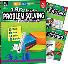 180 Days 3 Book Bundle - Reading, Writing & Problem Solving (180 Days of Practice)