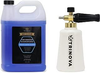 TriNova Foam Cannon and Gallon Car Wash Soap Kit Best Set for Detailing Trucks or SUVs (Kit w/1Gal Soap)