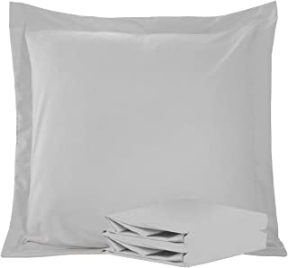 NTBAY 100% Brushed Microfiber European Square Throw Pillow Cushion Cover Set of 2, Soft and Cozy, Wrinkle, Fade, Stain Resistant (Euro 26