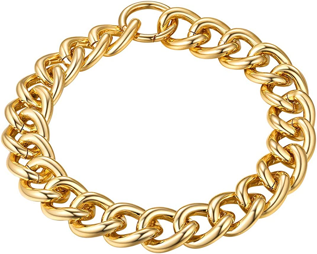 """GoldChic Jewelry 5mm/12mm/23mm Chokers Gold Chain Necklace for Women,Hip Hop Turnover/Paperclip Chain Necklace, Thick Chunky Choker Chain Necklace 16""""18""""20"""",Gift Box Included"""