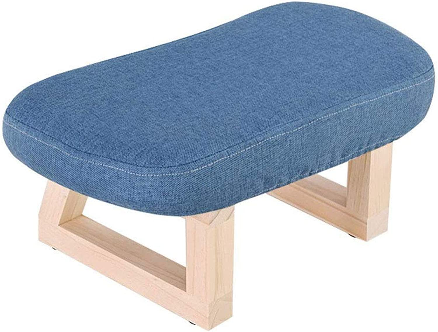 Change shoes Stool Small Sofa Solid Wood Dwarf Fabric shoes Bench (color   A)