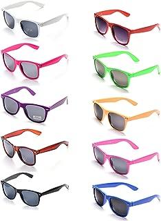 ONNEA 10 Piezas Gafas de Sol Fiesta Colores Paquete Años 80 10-Paquete