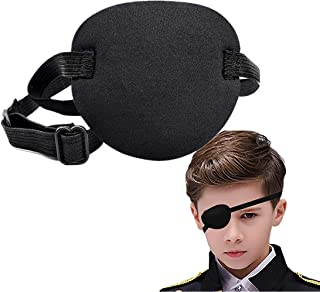 Eastern Eagle Adult Kid's Black Adjustable Soft and Comfortable Pirate Eye Patch Single Eye Mask for Amblyopia Lazy Eye,Ey...