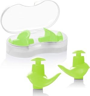 comprar comparacion Hearprotek Natación Tapones para los oídos, 2 Pares Tapones de Silicona Reutilizables a Prueba de Agua para Nadadores duch...