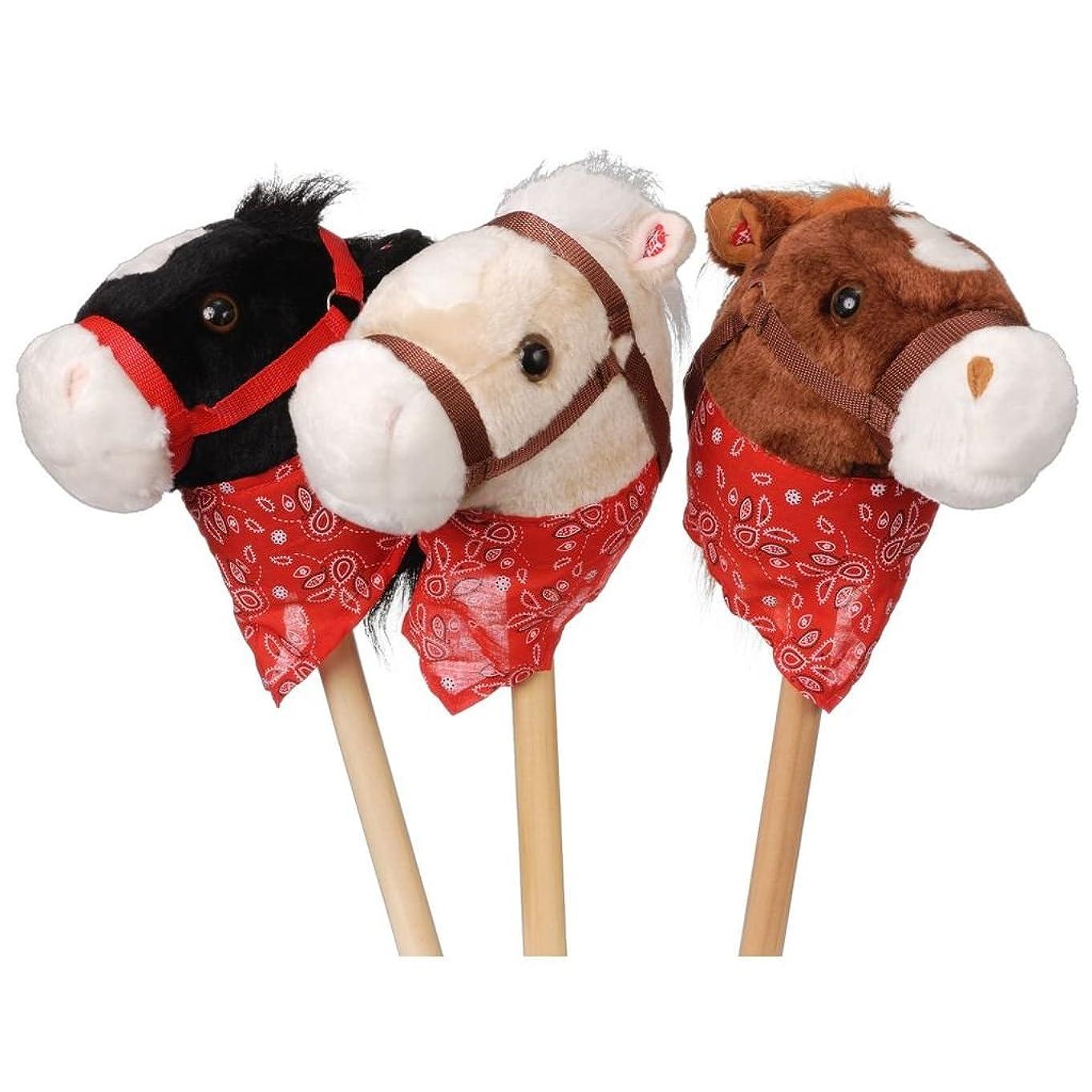 Plush Stick Horse with Bandana