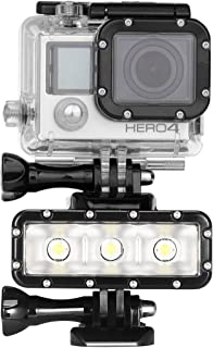 XIAODUAN-Onderwater fotografie gereedschap- - 300LM Waterdichte Video Light zaklamp met Base Mount & Screw & Dual Batterijen for GoPro HERO7 / 6/5/5 Sessie / 4 Sessie / 4/3 + / 3/2/1, Xiaoyi en An