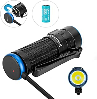 Olight S1R II 1000 Lumens Compact Rechargeable EDC Flashlight, with High Performance LED Plus 1 x IMR16340 Included, Side-Switch EDC Light for Outdoors Camping Hiking