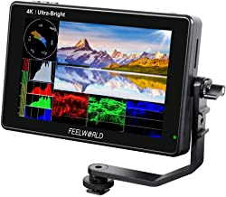 FEELWORLD LUT7S 7 Inch 2200nit Ultra Bright SDI Touch Screen DSLR Camera Field Monitor with 3D Lut Waveform Vectorscope Au...