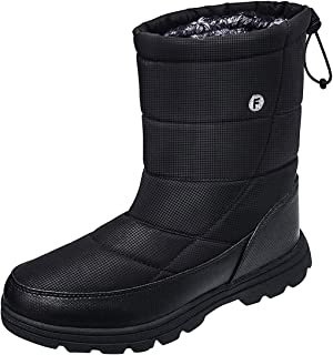 Mens Lightweight Water Resistant Winter Snow Boots