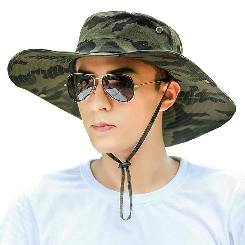 性格チケット寛大なサンバイザーV 日よけ帽 メンズ迷彩 夏 屋外の紫外線防御 UPF 50+ 保護ネットキャップ ワイドサイド 通気性 包装することができます 狩猟 釣りビーチハット キャップ ZIXIANG ハット (Color : C hat, Size : 54-60cm)