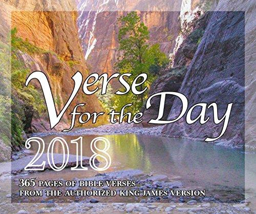 365versículo de la Biblia para el día–todos los KJV versículos de las Escrituras 2018calendario