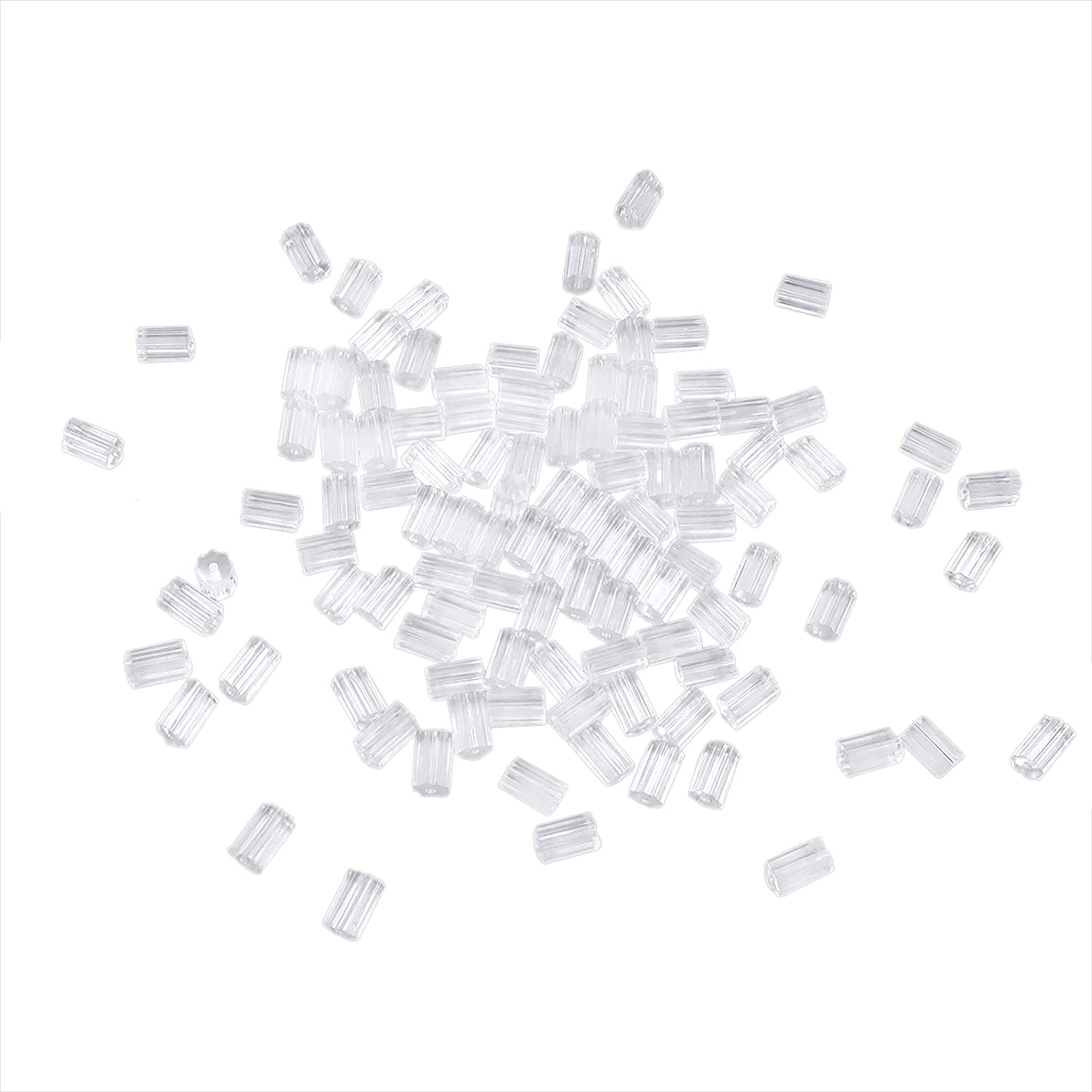 TOAOB 100pcs Clear Rubber Earring for Wholesale Stopper 3x3mm Backs Safety Finally popular brand
