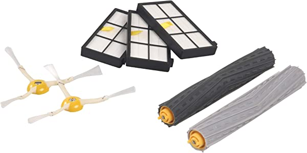 IRobot Authentic Replacement Parts Roomba 800 And 900 Series Replenishment Kit 3 AeroForce Filters 2 Spinning Side Brushes And 1 Set Of Multi Surface Rubber Brushes