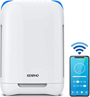 RENPHO Smart WiFi Air Purifier for Home Large Room Up to 1068 Ft², H13 True HEPA Air Cleaner Filter for Allergies and Pet...