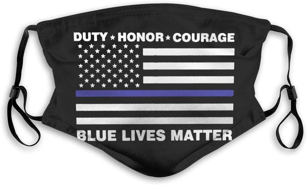 POYOMUK Blue Lives Matter Police Max 88% OFF Line Flag Face Us Credence Bandana