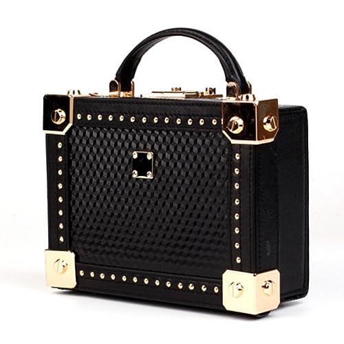 7ad46a953614 Actlure Women Handmade Vintage Genuine Cow Leather Shoulder Crossbody Box  Purse Clutch Handbag