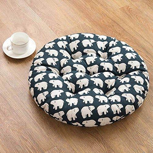 xinping Chair Pads Coussin de Chaise Coussin Rond pour Chaise de Bureau, F, diameter45cm(18inch)