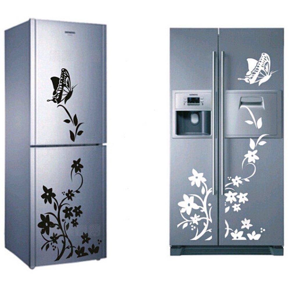 Nikgic 1pc Hermosas Pegatinas de Mariposas y Flores Cocina Cuarto de Baño Refrigerador Sala de Estar Etiqueta de la Pared Calcomanía Pared (Verde): Amazon.es: Bricolaje y herramientas