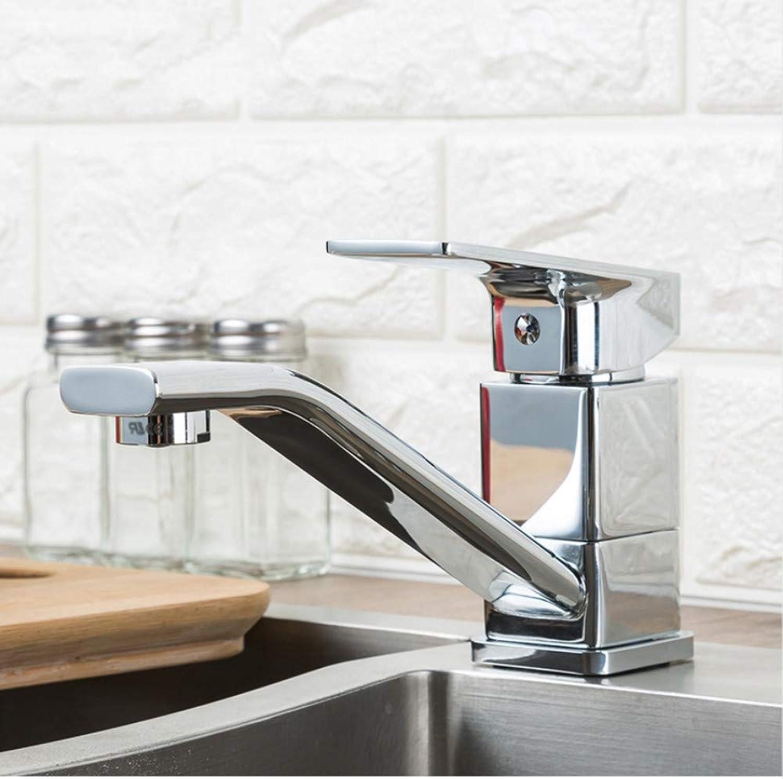 Lddpl Wasserhahn Modern Style Home Multi-Farbe-Spüle Wasserhahn Kalt-Und Warmwasser-Mischbatterie Einhand-Küchenarmaturen