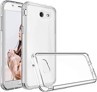 Amagel Samsung Galaxy J3 Emerge/J3 2017/J3 Prime/j327 Case, Anti-Scratch Rigid Slim Transparent for Samsung Galaxy J3 2017 Clear Cover PC Panel/Bumper Frame