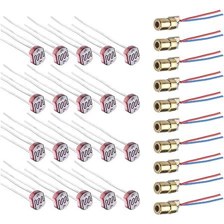 Wayintop 10 Stücke Laserdiode Rot Lasermodul Laser Dot Elektronik
