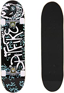 "Pro Skateboard - 31"" X 8"" Complete Skateboard, 9 Layer Maple Wood Skateboard Deck with Double Kick Concave Design for Kids Boys Youths Beginners"