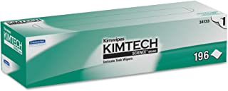 Kimtech 34133 Kimwipes Delicate Task Wipers, 1-Ply, 11 4/5 x 11 4/5, 196 per Box (Case of 15 Boxes)
